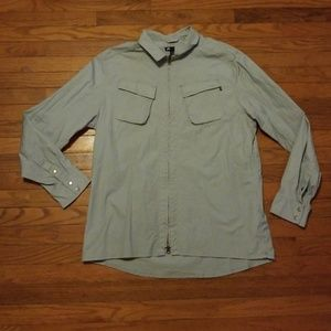 Nike SB Zip Up Collared Shirt Size XL